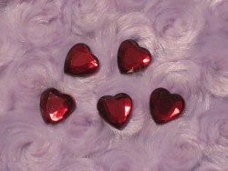 Red Rhinestone Hearts