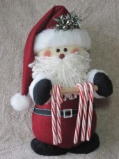 Santa Candy Cane Holder Pattern