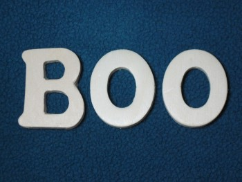 """BOO"" Wooden Letters"