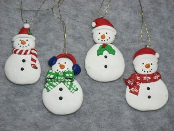 Claydough Snowmen