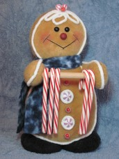 Gingerbread Candy Cane Holder Pattern
