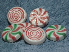Large Glittered Peppermints