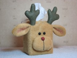 Reindeer Tissue Box Cover Pattern