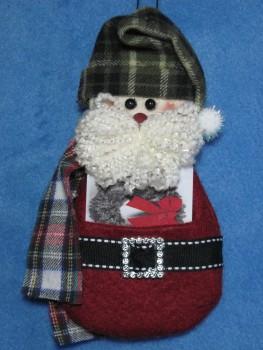 Santa Gift Card Holder Pattern
