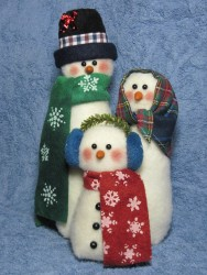 Snowman Family Pattern