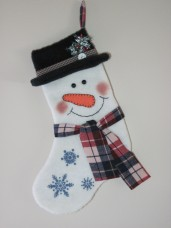 Snowman Stocking Pattern