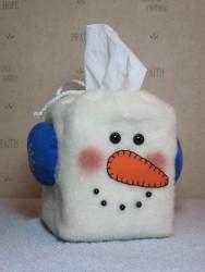 Snowman Tissue Box Cover Pattern